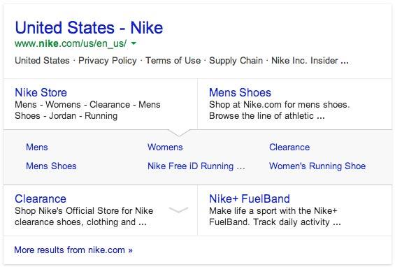 Google SiteLinks
