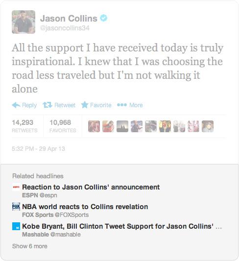 Jason Collins Headline