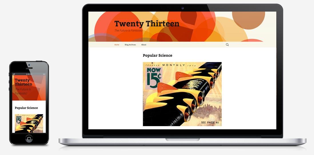 Twenty Thirteen Teması