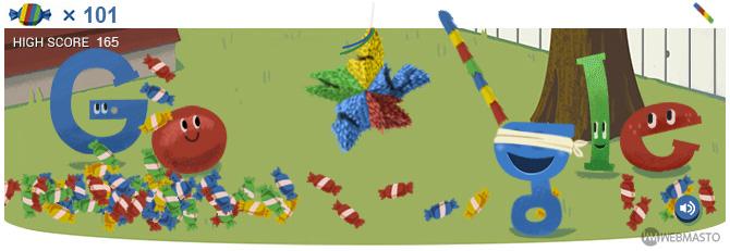 Google Doodle Pinata