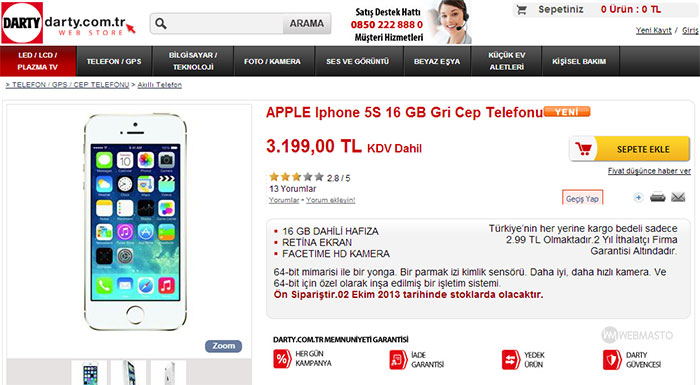 Darty iPhone 5S