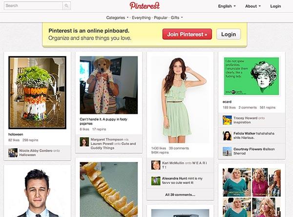 Pinterest Akış Alanı