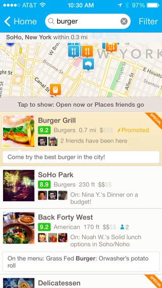 Foursquare Reklam Örneği