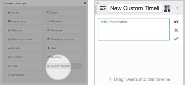 custom timeline sütunu eklemek