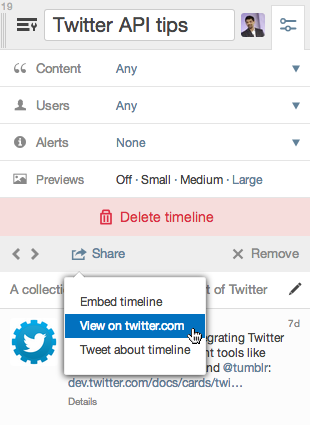 timeline paylaşma