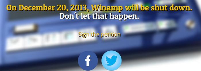 winamp imza kampanyası