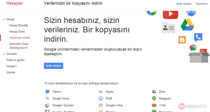 google arşiv