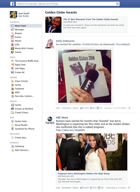 Facebook Trending Sayfası