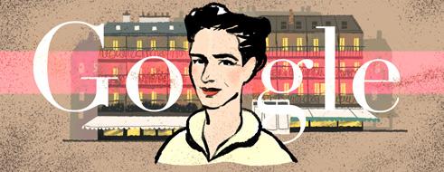 Simone de Beauvoir doodle