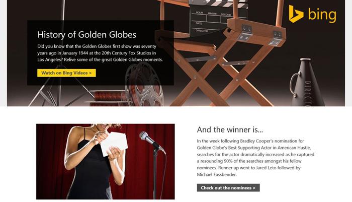 bing awards sayfası