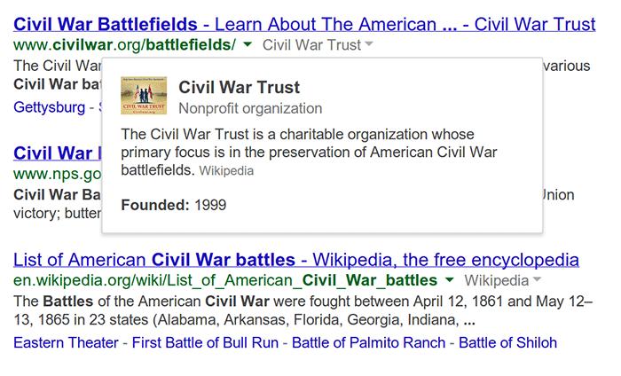 google bilgi grafiği arama sonuçları