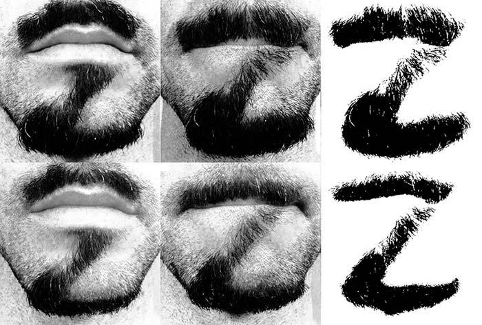 Alphabeard fontu normal ve kalın halleri
