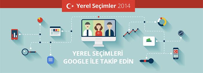 Google 2014 Yerel Seçimler Sayfası
