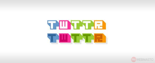 Retro Atari tarzı Twitter logo çalışması