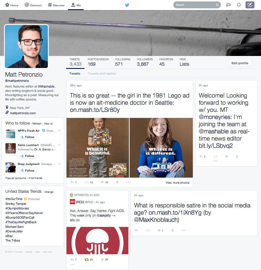 Twitter yeni tasarım