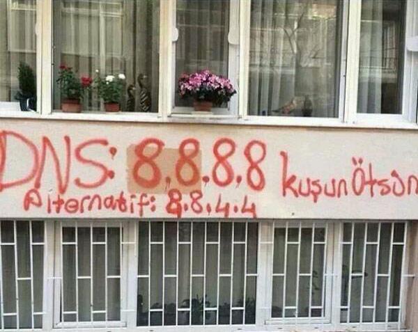 DNS'lerin duvarlara yazılması