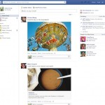 Eski (şimdiki)Facebook Haber Akışı tasarımı