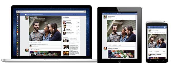 Facebook Yeni Haber Akışı tasarımı - tüm platformlar