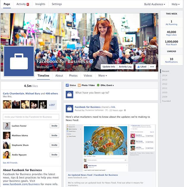Facebook yeni sayfa tasarımı