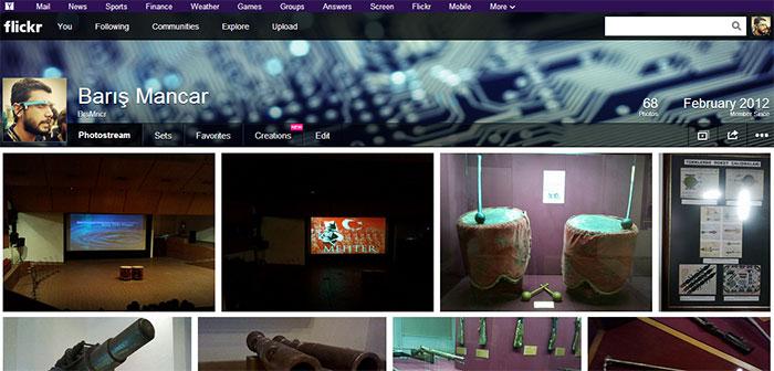 Flickr'ın şimdiki tasarımı (Mart 2013)