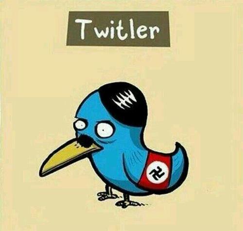 Hitler - Twitter kombinasyonu