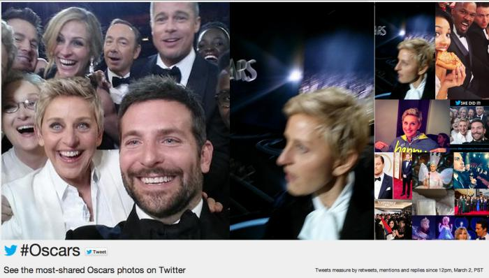 Oscar 2014 En çok paylaşılan fotoğraflar - Twitter