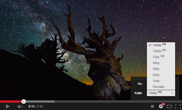 YouTube 4K - 1440p