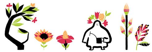 İlkbahar ekinoksu - doodle