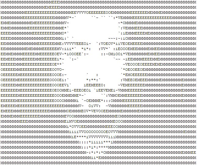 ASCII selfie