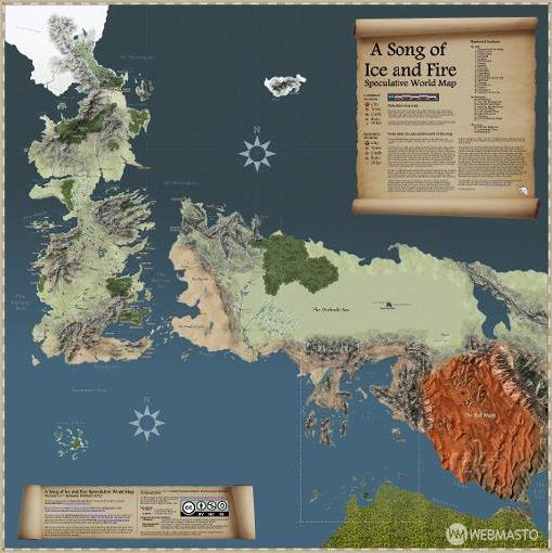 Game of Thrones haritası