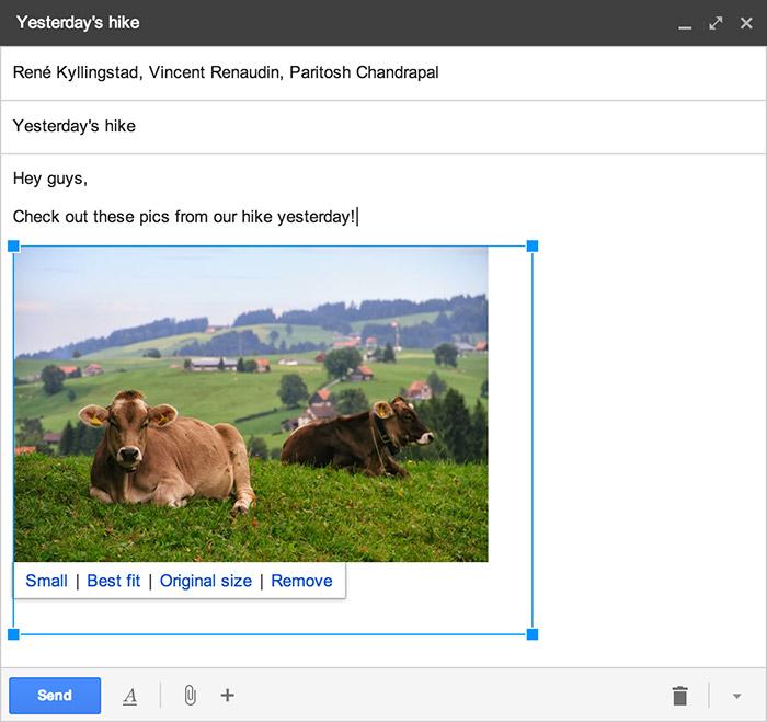 Gmail fotoğraf boyutu ayarlama