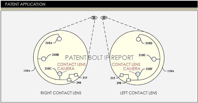 Google kontakt lens kamera patenti