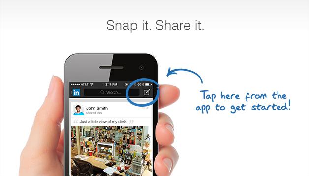LinkedIn fotoğraf paylaşma - iPhone