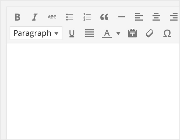 WordPress metin editörü