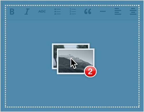 WordPress resim sürükle-bırak özelliği
