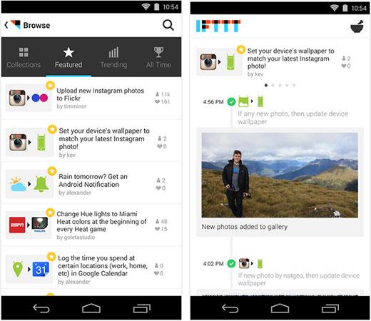 IFTTT Android uygulaması