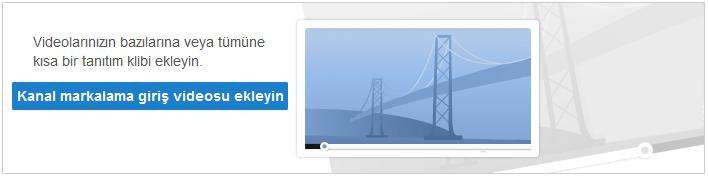 YouTube giriş videosu ekleme