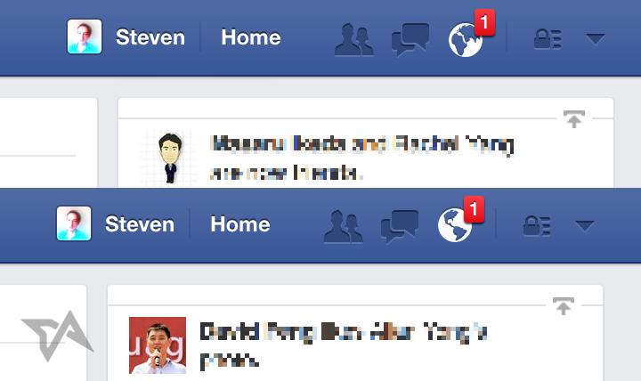 Facebook bildirim ikonu (Görsel: Techinasia.com)