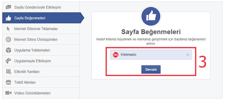 Facebook'a reklam verme 3