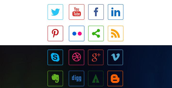 Line Sosyal Medya İkonlari