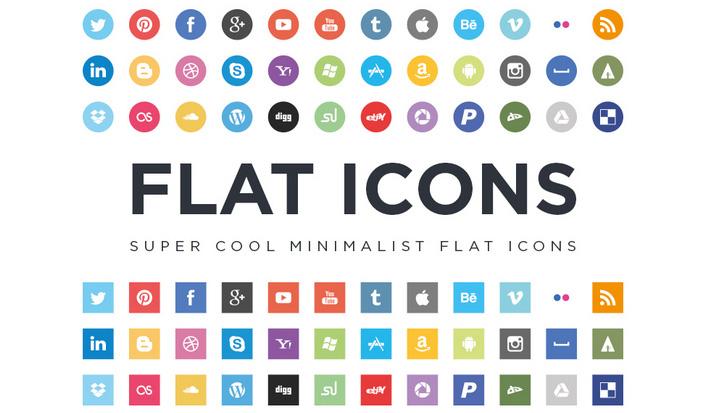 Minimalist Flat İkonlar