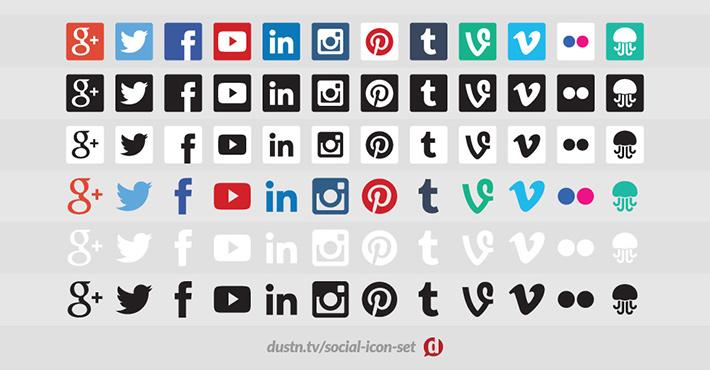 Dustn Sosyal Medya İkon Seti