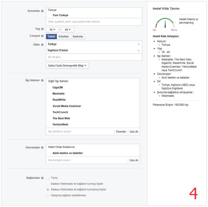 Facebook'a reklam verme 4