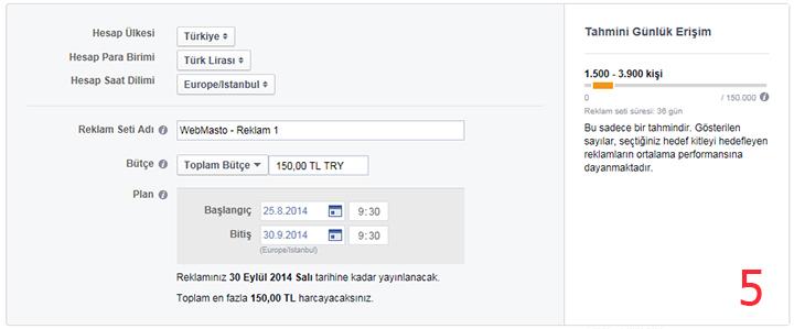 Facebook'a reklam verme 5