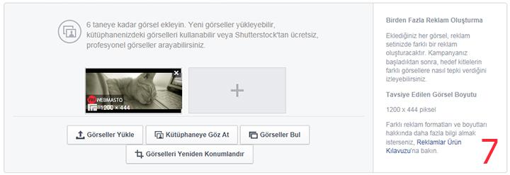 Facebook'a reklam verme 7