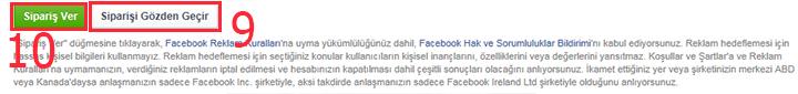 Facebook'a reklam verme 9, 10