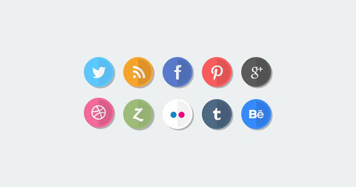 Flat Sosyal Medya İkonları