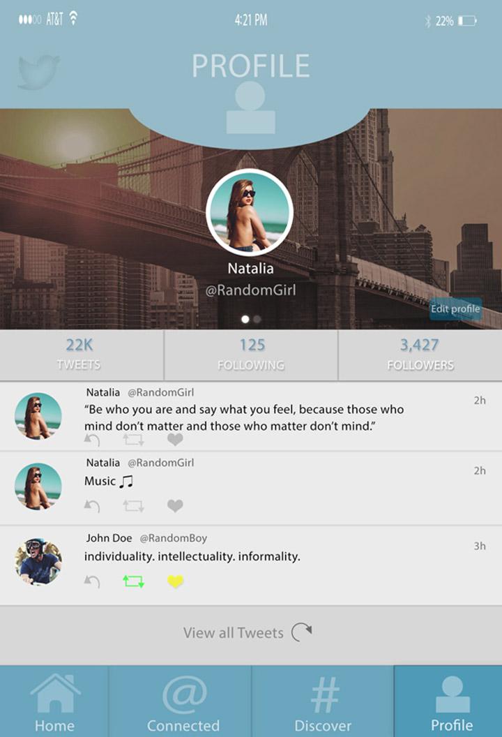 Twitter tasarım konsepti - Curtis K. Moore