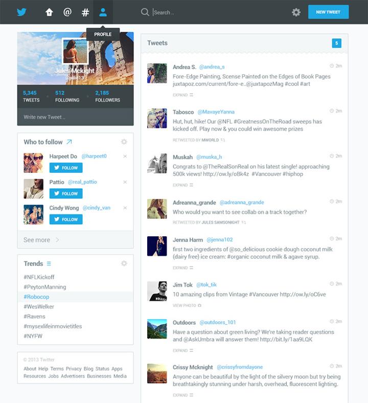 Twitter tasarım konsepti - Dmitri Litvinov