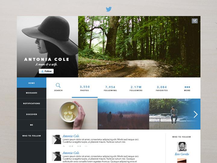 Twitter tasarım konsepti - Estie Carrillo